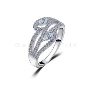 2014 Classic Luxury Wax Micro Setting 925 Silver Jewelry Engagement Rings
