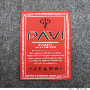 Custom Thin Spun Yarn Woven Clothing Label for Leisure Garment pictures & photos