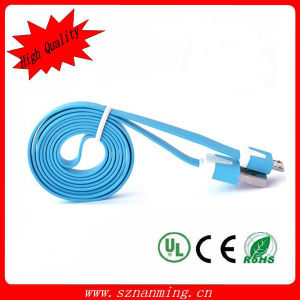 High-Speed Data Transmission Micro USB Flat Cable V8 Plug Cable pictures & photos