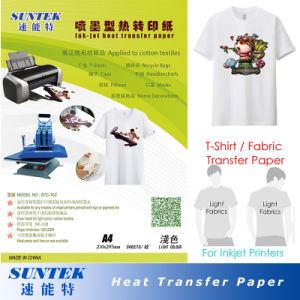 Hot Tear Light Colour Heat Transfer Printing Paper for Tshirt pictures & photos