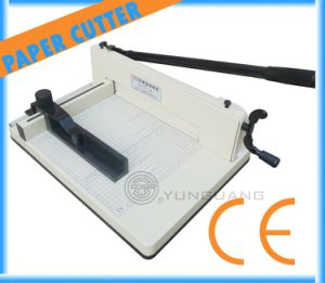 Heavy-Duty Manual Guillotine Desktop Stack Manual Paper Cutter Machine (YG-858A4) pictures & photos