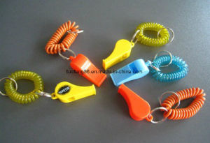 Plastic Whistle with Plastic Spring Stainless Steel Ring pictures & photos