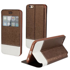 China New Arrival Leather Wallet Case for iPhone 6g