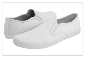Classic Unisex White Slip-on Canvas Shoes (WS631) pictures & photos