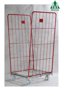2-Sides Warehouse Foldable Trolley Roll Cage pictures & photos