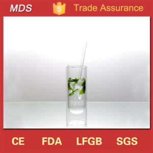 Glassware Hot Selling Double Wall Bottom Drining Glass pictures & photos