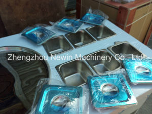 Ice Pan Machine Fried Ice Cream Machine with 6 Dishes pictures & photos