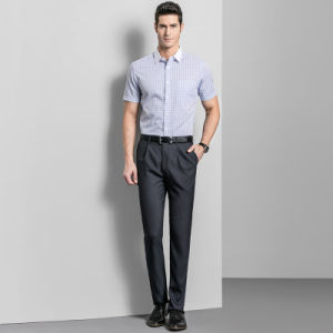 Easy Care Straight Mens Wedding Trousers Business Formal Men Dress Pants Black pictures & photos