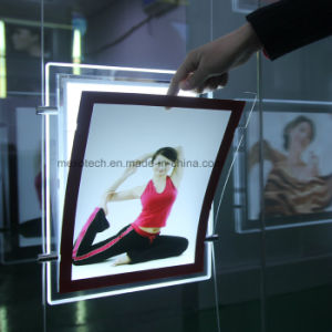 LED Poster Holder Acrylic Advertising Billboard Light Box with Magnet pictures & photos