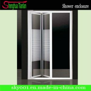 Chrome Finished Aluminium Alloy New Design Curved Shower Screen (TL-417) pictures & photos