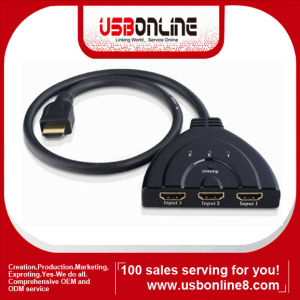 HDMI Switch 3x1 (HDMI V1.3) Switcher, Pigtail Type