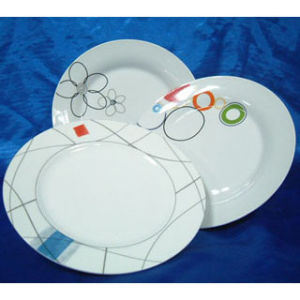 Porcelain Dinner Plate, Dinnerware/ Tableware Flat Dishes (PLA70109)