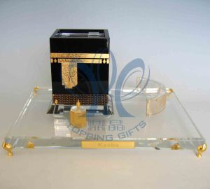 Kaaba (Crystal And Gold Model) Large
