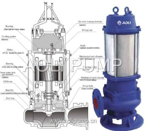Qw/Wq Stainless Steel Submersible Sewage Non-Clogging Pump pictures & photos