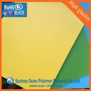 PVC Rigid Film, PVC Roll, Rigid PVC Film, Yellow PVC Film for pictures & photos