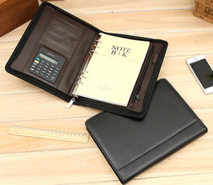 China a5 zipper leather organizer notebook muli functional for Construction organizer notebook