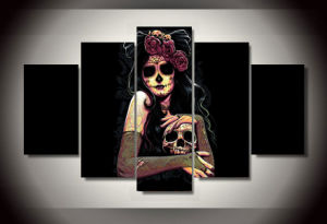 HD Printed Day of The Dead Face Group Painting Room Decor Print Poster Picture Canvas Decoration Mc-152 pictures & photos