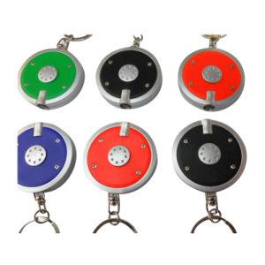 Promotion Round Shape Plastic LED Keychain Mini LED Keychain pictures & photos