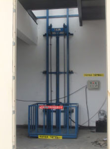 High Quality Stationary Type Guide Rail Lift Table pictures & photos