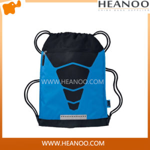 Black Wholesale Custom Womens Man Sport Drawstring Gym Bag Backpack pictures & photos