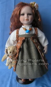 "12"" Porcelain Country Doll (A520)"