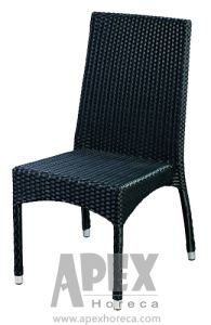 Aluminum Sidechair Outdoor Furniture Garden Rattan Chair Without Arm (AS1076AR) pictures & photos