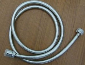 PVC Reinforced Silver Shiny Shower Hose, Stainless Steel Shower Hose pictures & photos