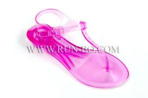 Fashionable Lady′s PVC Jelly Sandal (#RX-AS607)