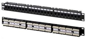 CE/RoHS Standard Cat5e 24 Port Patch Panel pictures & photos