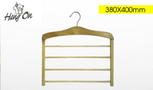 Wooden Multilayer Flat Coat Hanger (TPL806)