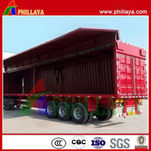 Curtain Side Wall Open Van Box /Wing Opening Semi Trailer