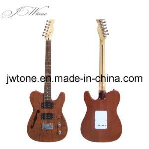 Light Brown Color Spalted Maple Top Tele Electric Guitar pictures & photos