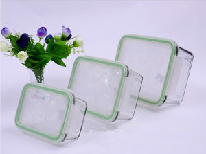 370ml 640ml 1040ml Rectangular Pyrex Glass Food Container Set (GFC-REC) pictures & photos