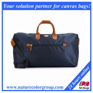 Classic and fashion Leather Trimmed Canvas Carry-on Duffel Bag pictures & photos