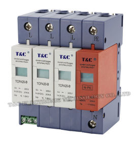 SPD/Power Surge Protector /Surge Arrester (TCPA20-B/3+NPE) with CE Certificate