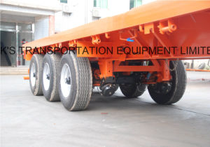 40feet 3axle Flatbed Semi Trailer/Single Tyre pictures & photos