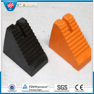 Industrial Rubber Wheel Chock Block Holder, Rubber Cushion