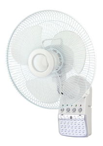 14 Inch Rechargeable Wall Fan with LED Light (289)