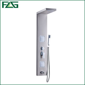 Flg High Quality Matt  Brushed Nickle  Bathroom Waterfall Shower Panel pictures & photos