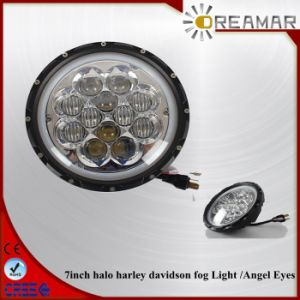 60W 7inch for Halo Harley Davidson Fog Light with Angel Eyes pictures & photos