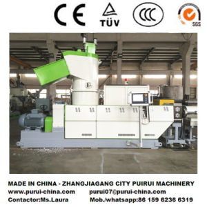 Plastic Extruder for Factory Offcut Film Recycling with PLC Control pictures & photos