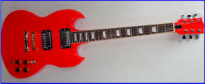 Red Rock Sg Style Electric Guitar