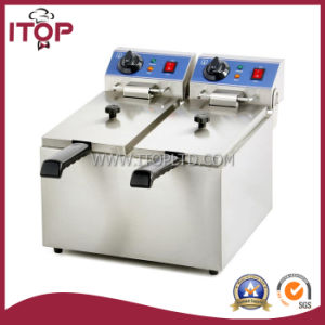 Single and Double Tank Stainless Steel Electric Fryer (PEF) pictures & photos