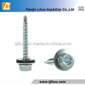 Hex Head Self Drilling Screws with EPDM Bonded Washers pictures & photos