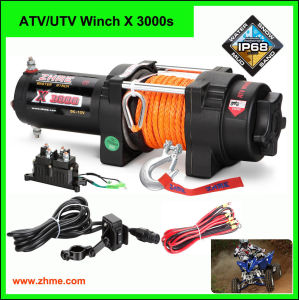 Zhme ATV Winch 3000lbs with Dyneema Rope X 3000 S pictures & photos