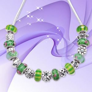 925 Silver Green Necklace (C108)