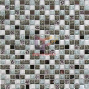 Wall Paper Like Glass Mosaic Tile (CSR078) pictures & photos