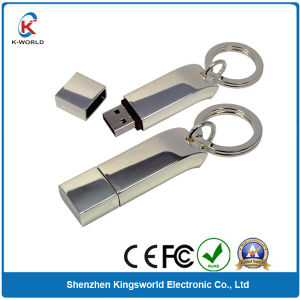 Metal Stick 4GB USB Flash Drive with Keyring