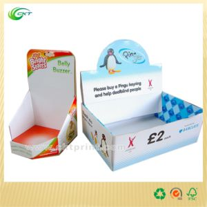 Colorful Cardboard Box Stand for Retailing (CKT- CD-296)