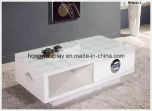 Tea Table with White Color Liquid High Glossy Painting, Coffee Table pictures & photos